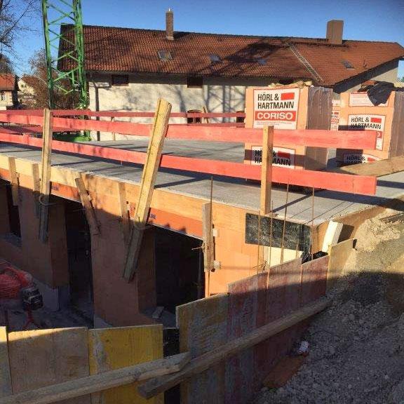Baufortschritt Ansicht Südseite